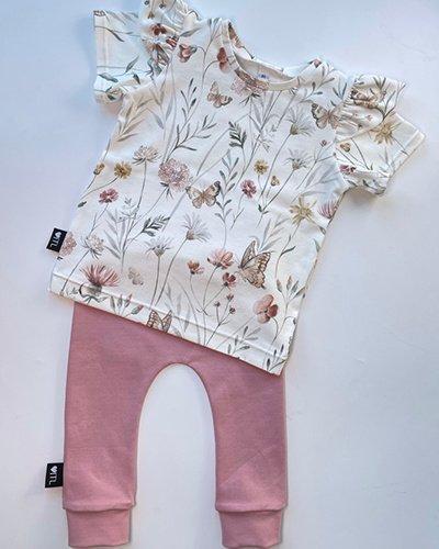 TessLiva-handgemaakte-baby-kinderkleding-Set-broekje-oud-roze-en-shirt-flowers-and-butterfly