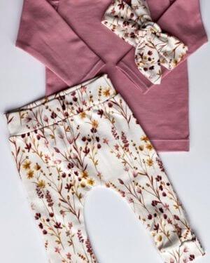 TessLiva-handgemaakte-baby-kinderkleding-Set-newborn-broekje-haarbandje-dried-flowers-pink-longsleeve-oud-mauve