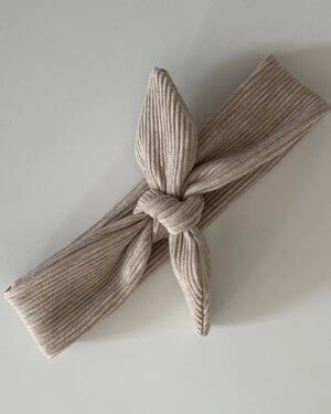 TessLiva-handgemaakte-baby-kinderkleding-haarbandje-rib-ottoman-beige-melange
