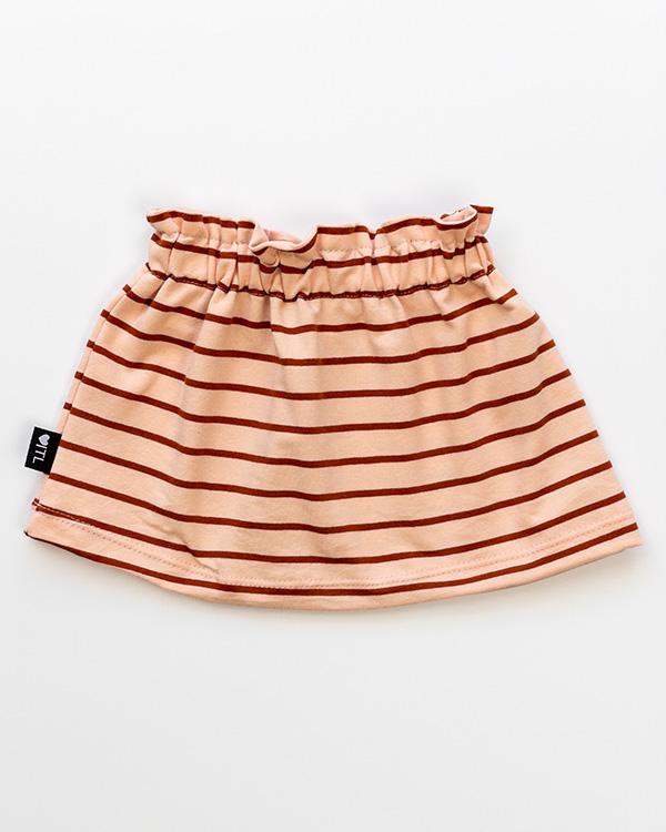 1137810201-Paperbag skirt-French terry stripes powder -TessLiva-handgemaakte-baby-kinderkleding