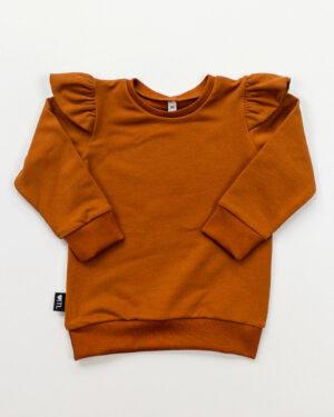 1185420201-Sweater-Cognac (Sweatstof)-TessLiva-handgemaakte-baby-kinderkleding