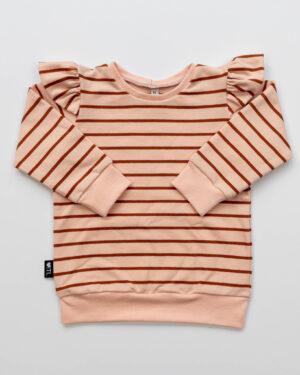 1187820201-Sweater-French terry stripes powder -TessLiva-handgemaakte-baby-kinderkleding